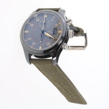 IWC Pilot Top Gun Chronograph Swiss Valjoux 7750 Movement Ceramic Case with Black Dial-Nylon Strap