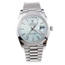 Rolex Day-Date II Swiss ETA 2836 18K Plated Gold Movement with Light Blue Dial S/S