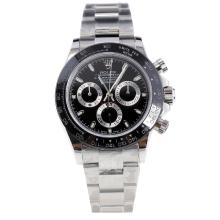 Rolex Daytona Swiss Calibre 4130 Chronograph Movement Ceramic Bezel Stick Markers with Black Dial S/S