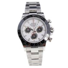 Rolex Daytona Swiss Calibre 4130 Chronograph Movement Ceramic Bezel Stick Markers with White Dial S/S