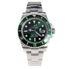 Rolex Submariner Swiss Cal 3135 Movement Ceramic Bezel with Green Dial S/S