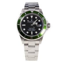 Rolex Submariner Swiss Cal 3135 Movement with Green Dial S/S