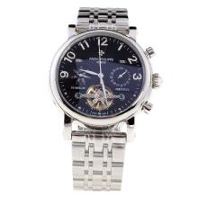 Patek Philippe Perpetual Calendar Tourbillon Automatic with Black Dial S/S-1