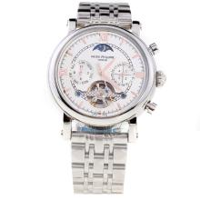 Patek Philippe Perpetual Calendar Tourbillon Automatic with White Dial S/S