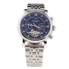 Patek Philippe Perpetual Calendar Tourbillon Automatic with Black Dial S/S