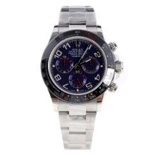 Rolex Daytona Swiss Calibre 4130 Chronograph Movement Ceramic Bezel Number Markers with Blue Dial S/S