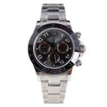 Rolex Daytona Swiss Calibre 4130 Chronograph Movement Ceramic Bezel Number Markers with Gray Dial S/S