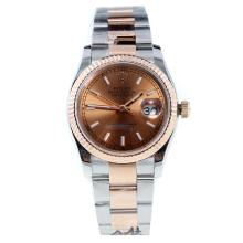 Rolex Datejust Swiss ETA 2836 Movement Two Tone Stick Markers with Champagne Dial-High Quality Version-1