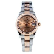 Rolex Datejust Swiss ETA 2836 Movement Two Tone Stick Markers with Champagne Dial-High Quality Version