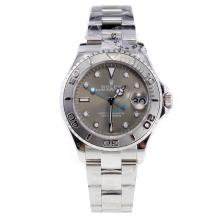 Rolex Yachtmaster Swiss ETA 2836 Movement with Gray Dial S/S