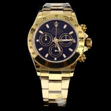 Rolex Daytona Swiss Calibre 4130 Chronograph Movement Full Gold Stick Markers with Black Dial
