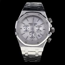 Audemars Piguet Royal Oak Working Chronograph Stick Markers with Silver Dial S/S