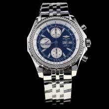 Breitling for Bentley GT Chronograph Swiss Valjoux 7750 Movement with Black Dial S/S