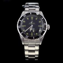 Rolex Submariner Swiss ETA 2836 Movement Black Dial with Rivet Strap S/S-Vintage Editioin-1