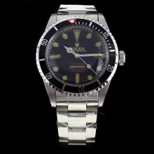 Rolex Submariner Swiss ETA 2836 Movement with Black Dial S/S-Vintage Editioin