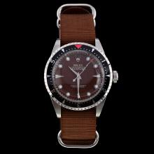 Rolex Milgauss Swiss ETA 2836 Movement Brown Dial with Nylon Strap-Vintage Edition-1