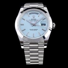 Rolex Day-Date II Swiss ETA 3255 Movement with Blue Dial S/S-1