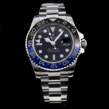 Rolex GMT-Master II Automatic Black/Blue Bezel with Black Dial S/S-Same Chassis as the Swiss Version