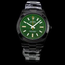 Rolex Milguass Full PVD with Black Dial-Same Structure As ETA Version