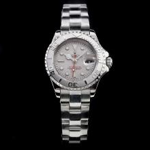 Rolex Yachtmaster Automatic Super Luminous Light with Gray Dial S/S-Same Chassis as Swiss Version Lady Size