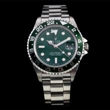 Rolex GMT-Master II Swiss ETA 2836 Movement with Green Bezel and Dial S/S