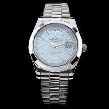 Rolex Day-Date II Automatic Stick Markers with Blue Dial S/S