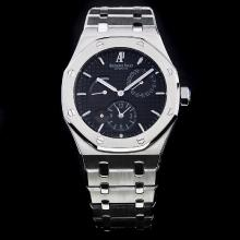 Audemars Piguet Jules Audemars Working Power Reserve Automatic with Black Dial S/S-18 Plated Gold Movement
