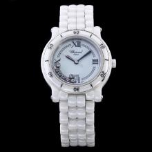 Chopard Happy Sport Full White Authentic Ceramic with White Dial-Lady Size