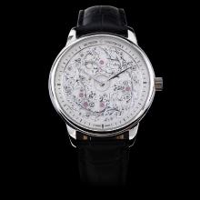 Vacheron Constantin Métiers d'Art Mecaniques Gravees Manual Winding with White Dial-Leather Strap