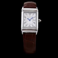 Jaeger-Lecoultre Reverso White Dial with Number Marking-Lady Size