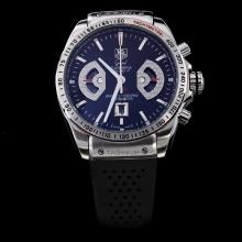 Tag Heuer Grand Carrera Calibre 17 Working Chronograph with Black Dial-Rubber Strap
