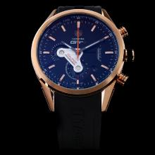 Tag Heuer Carrera GT3 Working Chronograph Rose Gold Case Orange Needle with Black Dial-Rubber Strap