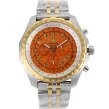 Breitling For Bentley Motors Trabajo Chronograph Two Tone Dial Con Orange