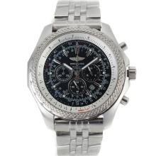 Breitling For Bentley Motors Trabajo Cronógrafo Con Negro Dial-S / S